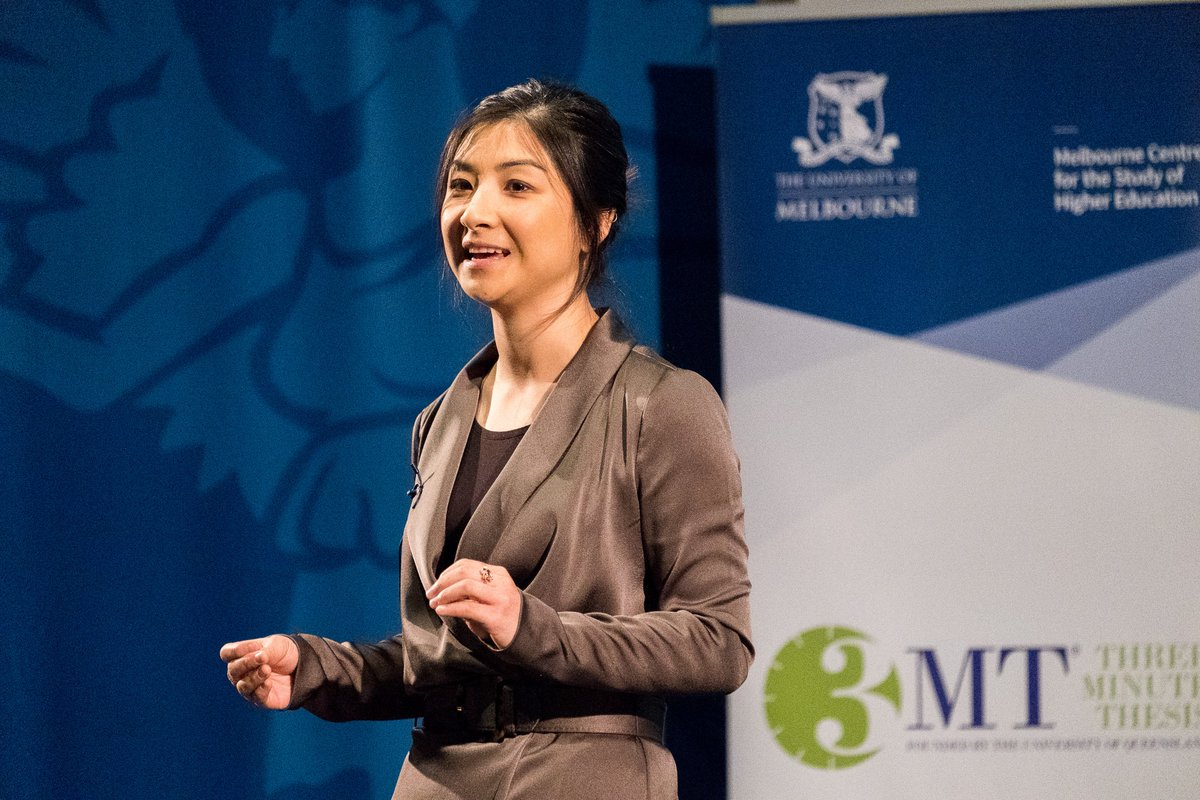 Congratulations to Alexis Ceecee Zhang @UniMelbMDHS  who is representing UniMelb in the @u21news @3MT_official Comp with her presentation, 'An unnerving problem: a fishy solution'! Vote for her now in the People's Choice category: http://go.unimelb.edu.au/qi4r