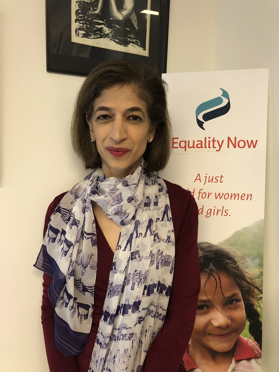 We are loving the look @YasmeenHassan7 is sporting today with the #ForFreedomScarf featuring women's work to create a more just and equal world! #ResistanceByDesign #FeministFashion pic.twitter.com/7zaxJwk0cc