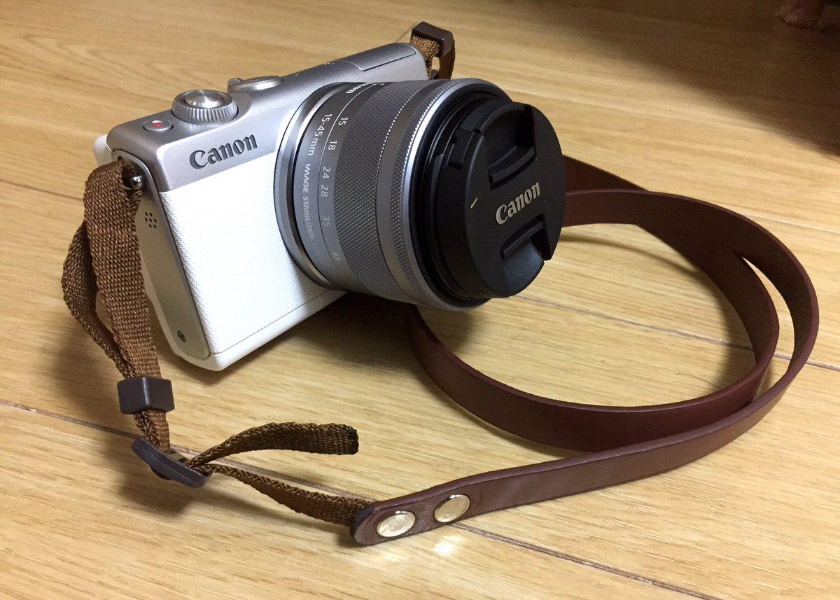 test ツイッターメディア - ストラップが高かったので、100均で婦人ベルトと小型犬用の首輪2本をタップ付けして自作した! カメラケースとマッチして、いい感じ #EOSM100 #カメラストラップ #自作 #ダイソー https://t.co/bJJm8ixF31