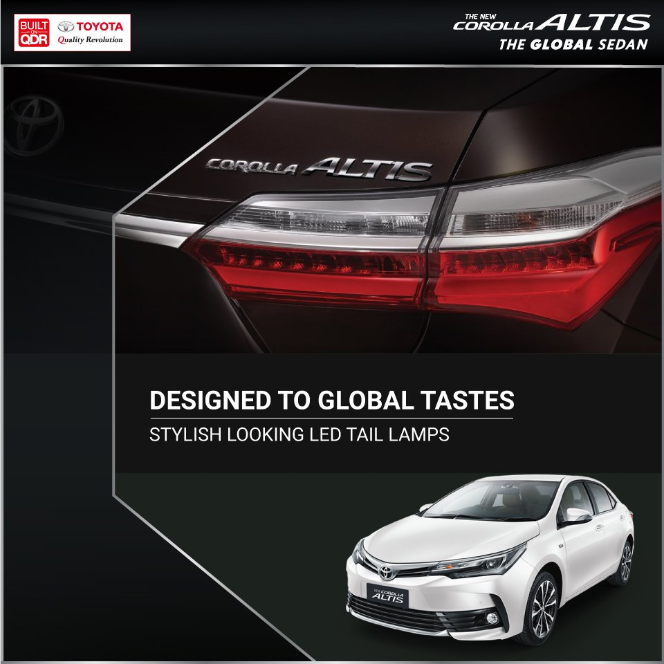 Dabble in luxury that's admired around the world.   Only aboard the #Toyota #CorollaAltis  Visit :  https://t.co/8IrjY8cSmk https://t.co/V1krzfpc0P