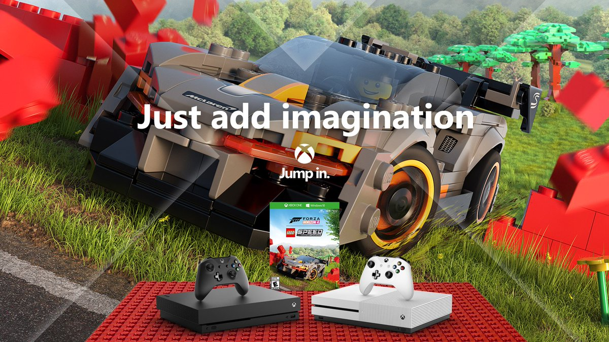 Race, build, and explore with the Xbox One #ForzaHorizon4 LEGO Speed Champions bundles 🏁 Includes Xbox One S or X, Forza Horizon 4 + the LEGO Speed Champions add-on 🏎 Buy now 💚 xbox.com/xbox-one/conso…