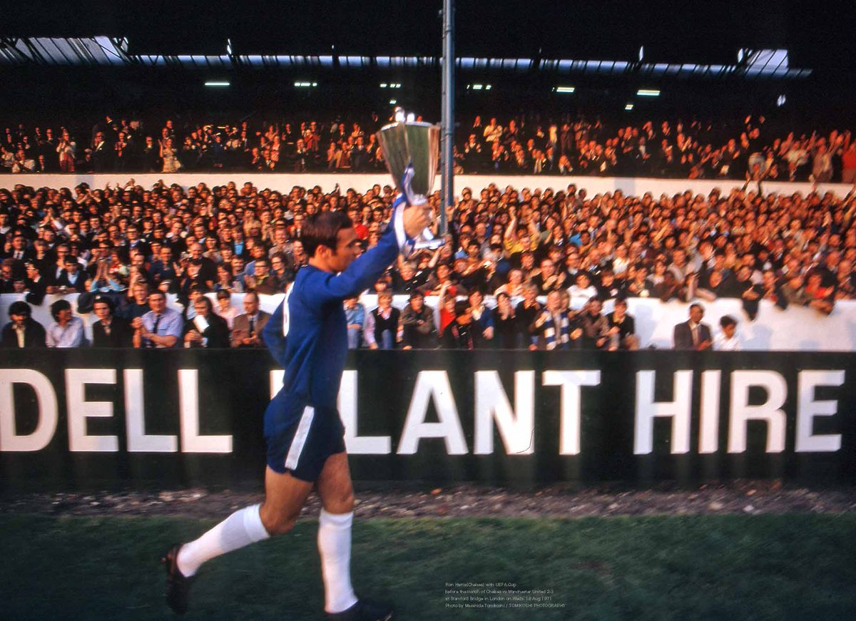"tphoto on Twitter: ""Ron Harris(Chelsea) with UEFA Cup before the ..."
