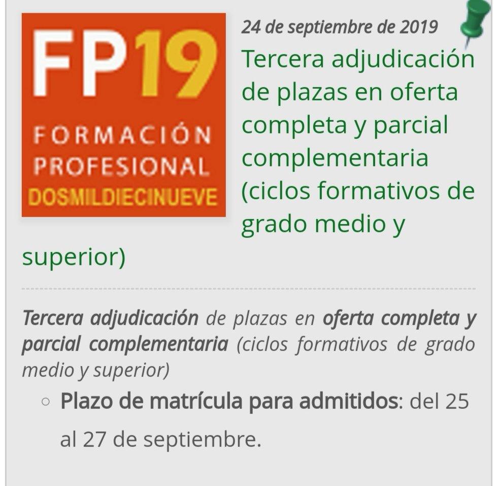 Fp Andaluza On Twitter Se Ha Publicado La Tercera