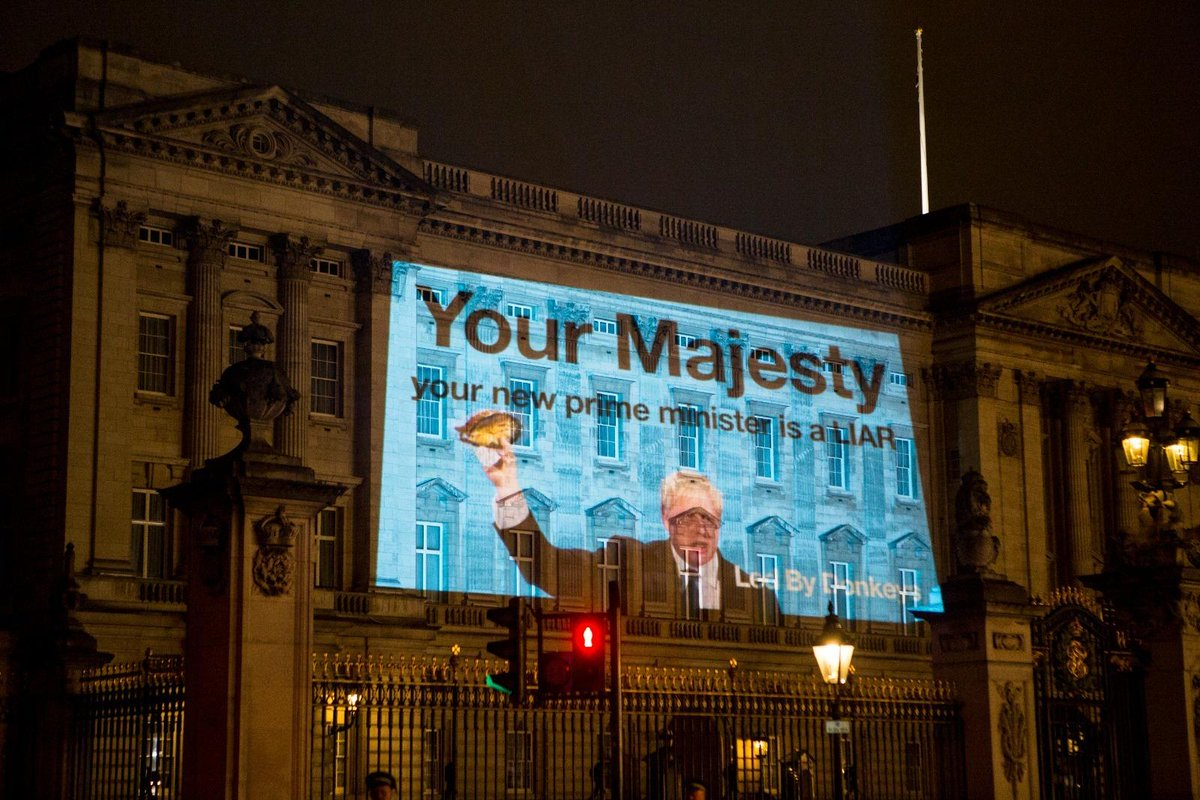 Dear The Queen, don't say we didn't warn you. (Buckingham Palace in July)