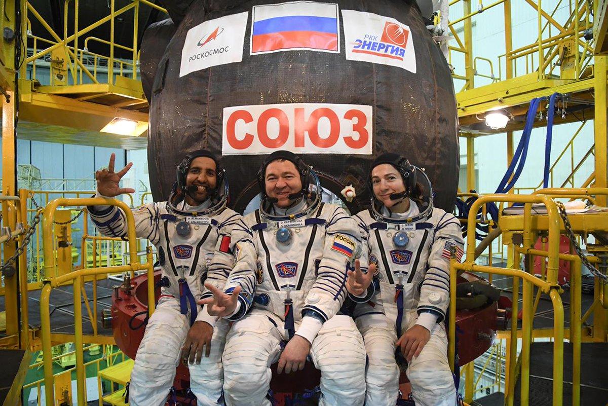 космонавты Мансури, Скрипочка и Мейр