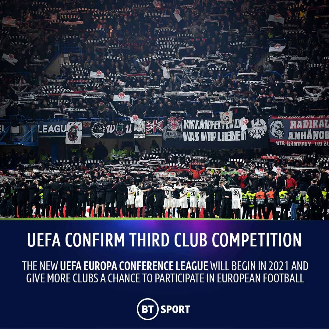 anything liverpool on twitter uefa have confirmed there will soon be a third club competition called the uefa europa conference league begins in 2021 https t co h25tbivywi uefa europa conference league begins