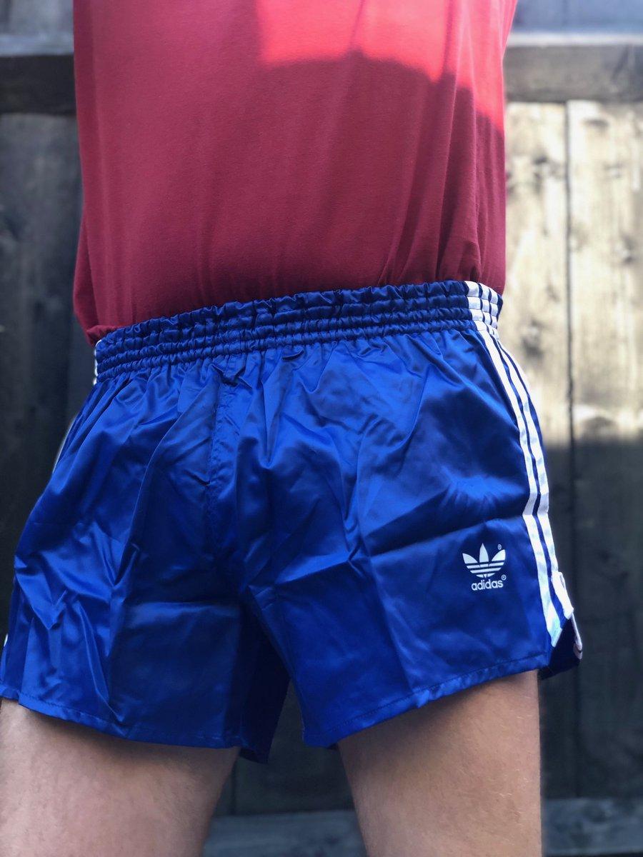 adidas vintage nylon shorts