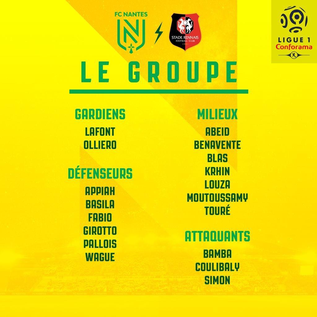 derby FCN SRFC groupe Nantes Ligue 1