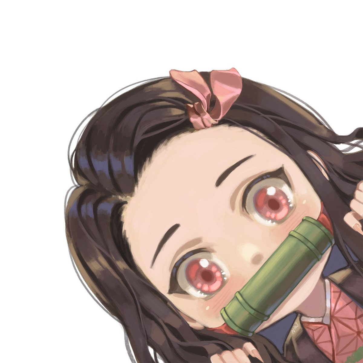 "najinichan в Twitter: ""Chibi Nezuko simple fanart #KNY #kimetsunoyaiba  #kimetsu_no_yaiba #DemonSlayer #Nezuko #artistontwitter #FANART… """