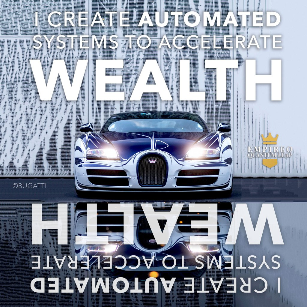 "I create AUTOMATED systems to accelerate WEALTH. ♻️📊💈💪💰💎  ""QUANTUM LEAP TO MILLIONAIRE""💰💎 ▶️ I want to know more about the program https://t.co/zfXarp0sbB https://t.co/jYiZ9sP0uO"