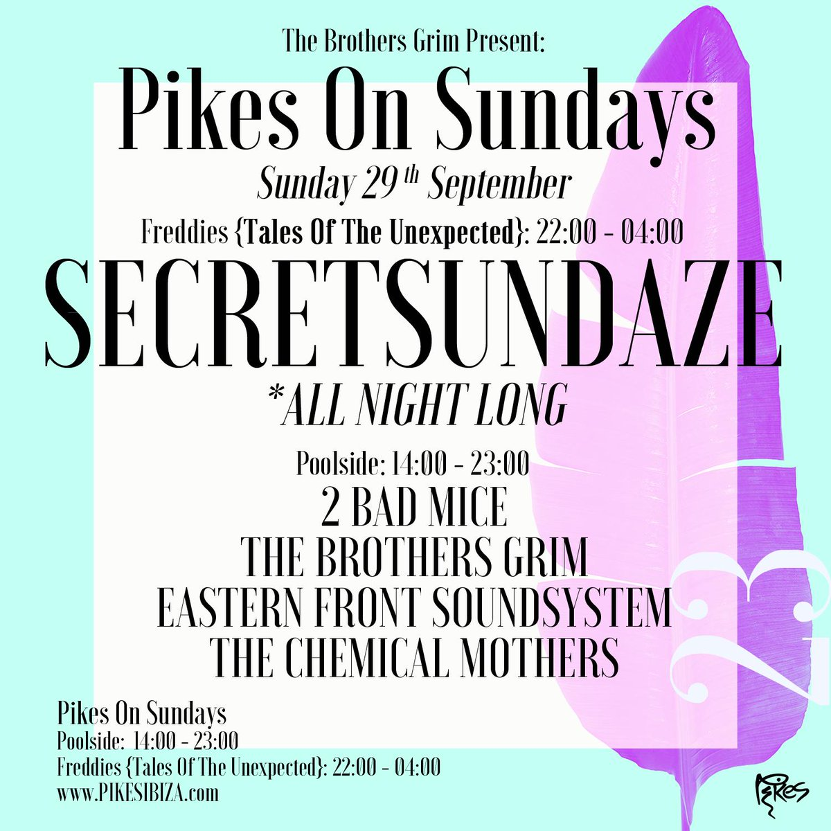 THIS SUNDAY IN IBIZA ...We're playing records poolside @PikesHotel ... come! x#balearic #ibiza
