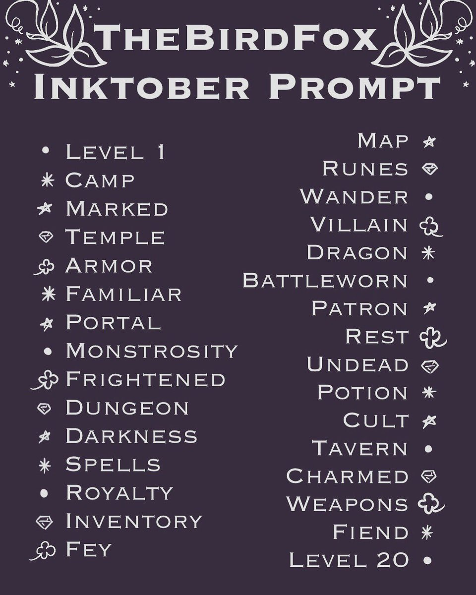 Sneaks back on to Twitter to deliver this #inktoberprompt If anyone wants to join me, use #birdfoxinktober so we can all see your lovely artworkpic.twitter.com/QQBsucxhmU
