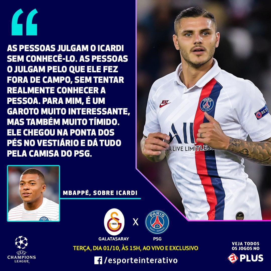 Kylian Mbappé saiu em defesa de Mauro Icardi, que foi criticado quando  deixou a Inter de Milão e se transferiu para o...   Esporte Interativo