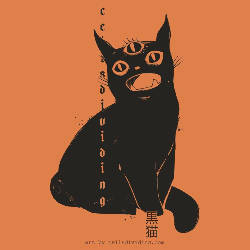 A new design featuring the third eye black cat! Working on some orange and black designs for Halloween. #blackcat #cat #cats #catstagram #kitty #halloween #trickortreat #spooky #happyhalloween #darkart #gothgrunge #goth #spookyvibes #artworkoftheday #darkartist #art #catdrawingpic.twitter.com/jBu13iA4Ik