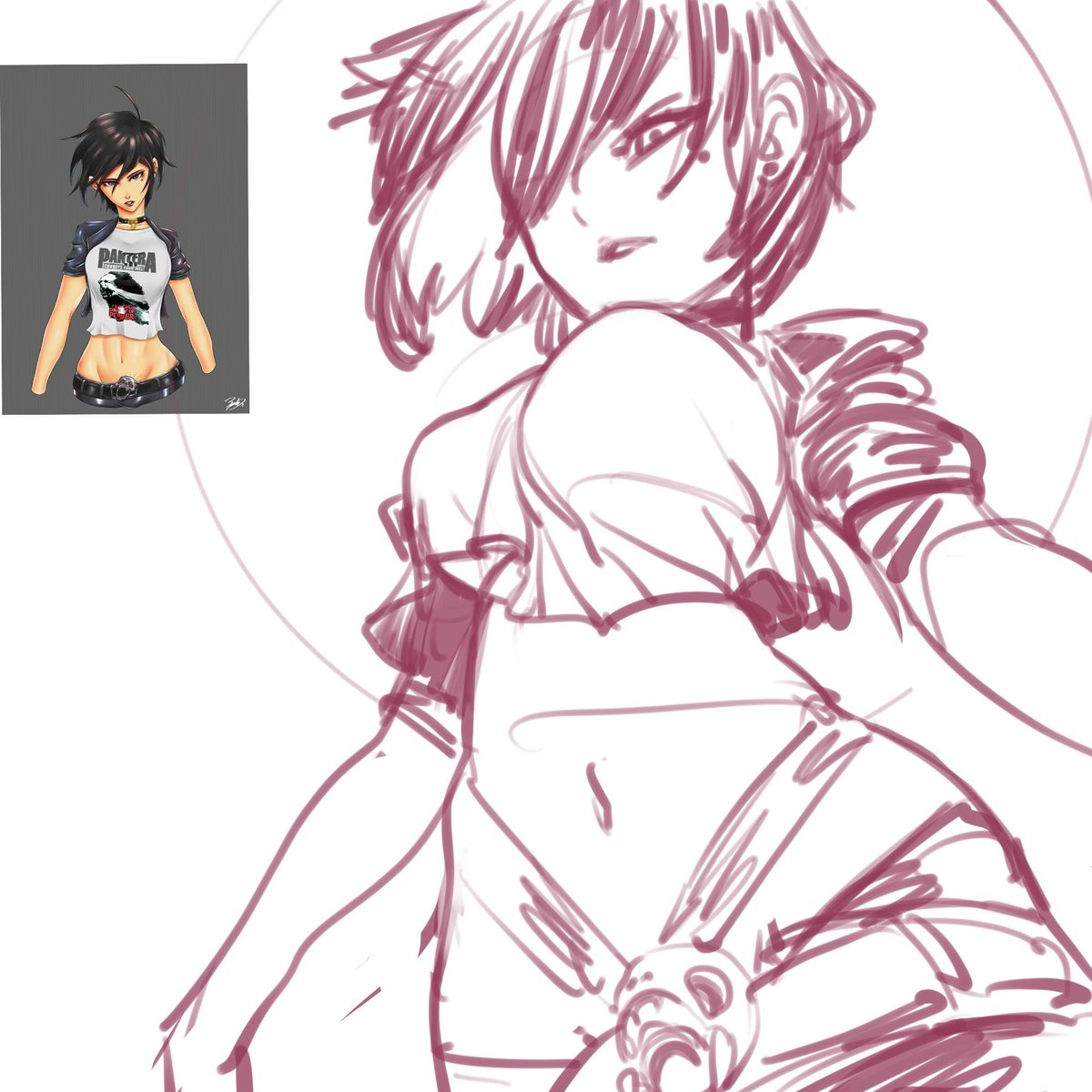 Decide to ask for random OC sketch on FB before bed , maybe I will try on Twitter tmmrw