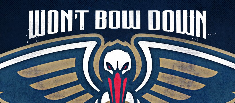 Replying to @PelicansNBA: New Orleans won't bow down. Neither will we  #WontBowDown