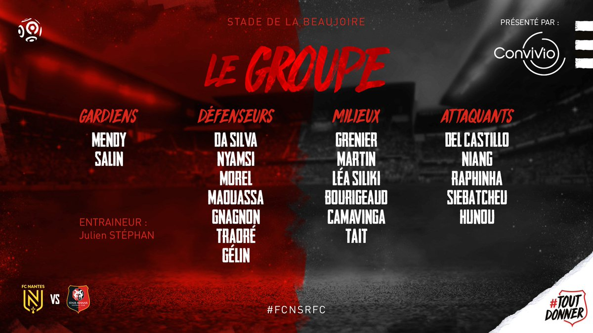 derby FC Nantes vs SRFC groupe Rennes Ligue 1