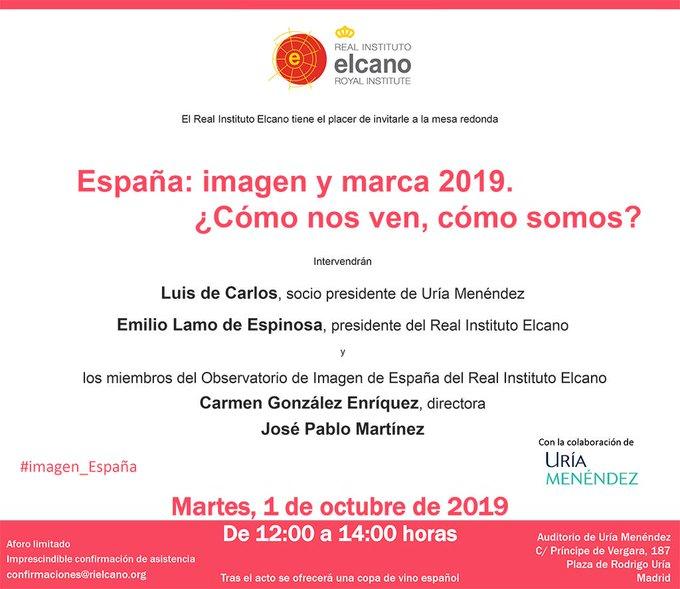 Invitación España: imagen y marca 2019. ¿Cómo nos ven, cómo somos?
