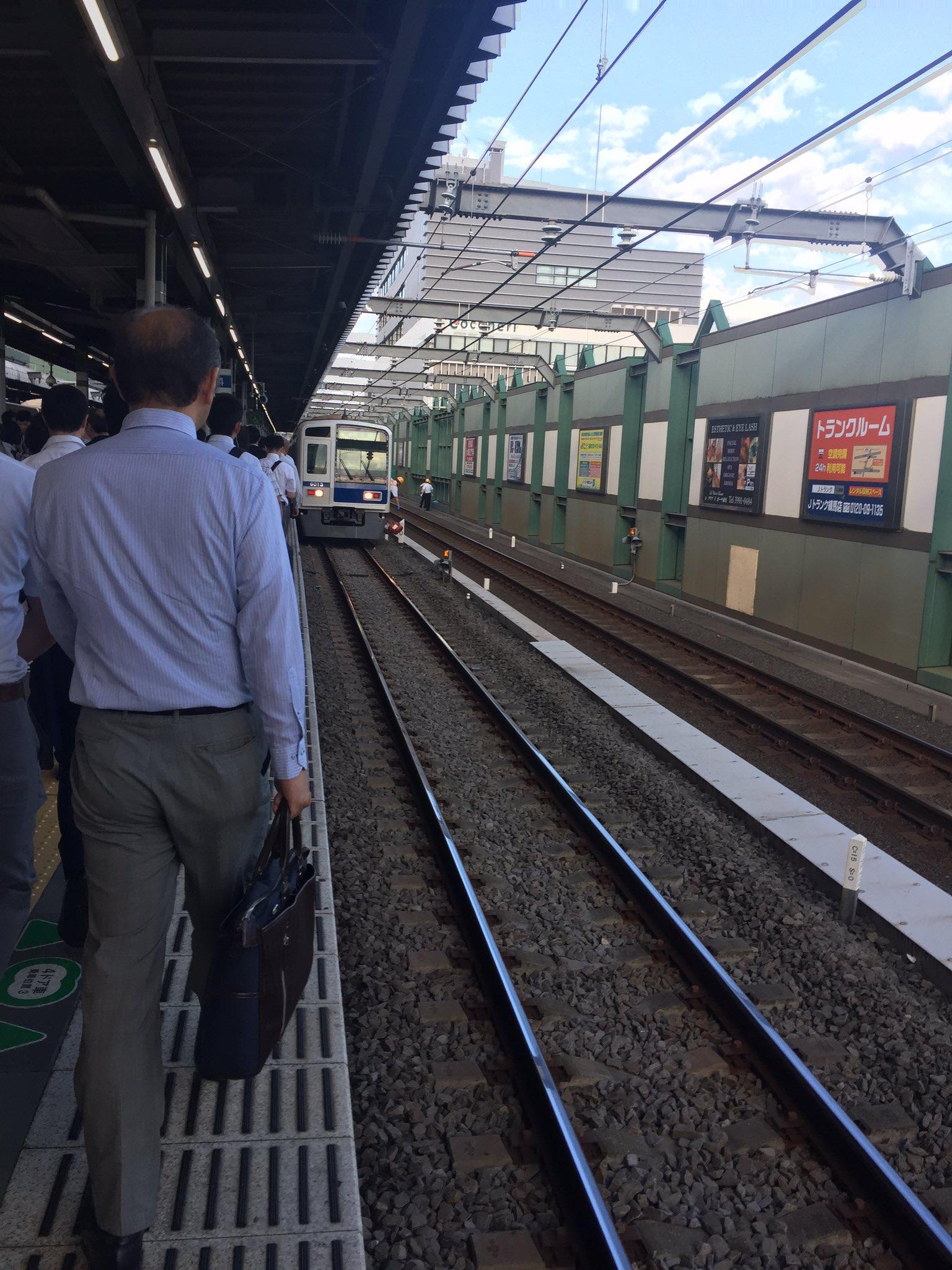 西武池袋線の練馬駅で人身事故が起きた現場の画像