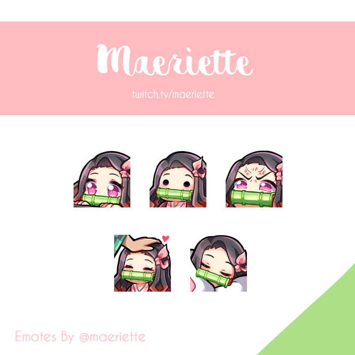 After so long, my emotes finally been approved ! Replaced my old ones with Nezuko 💕