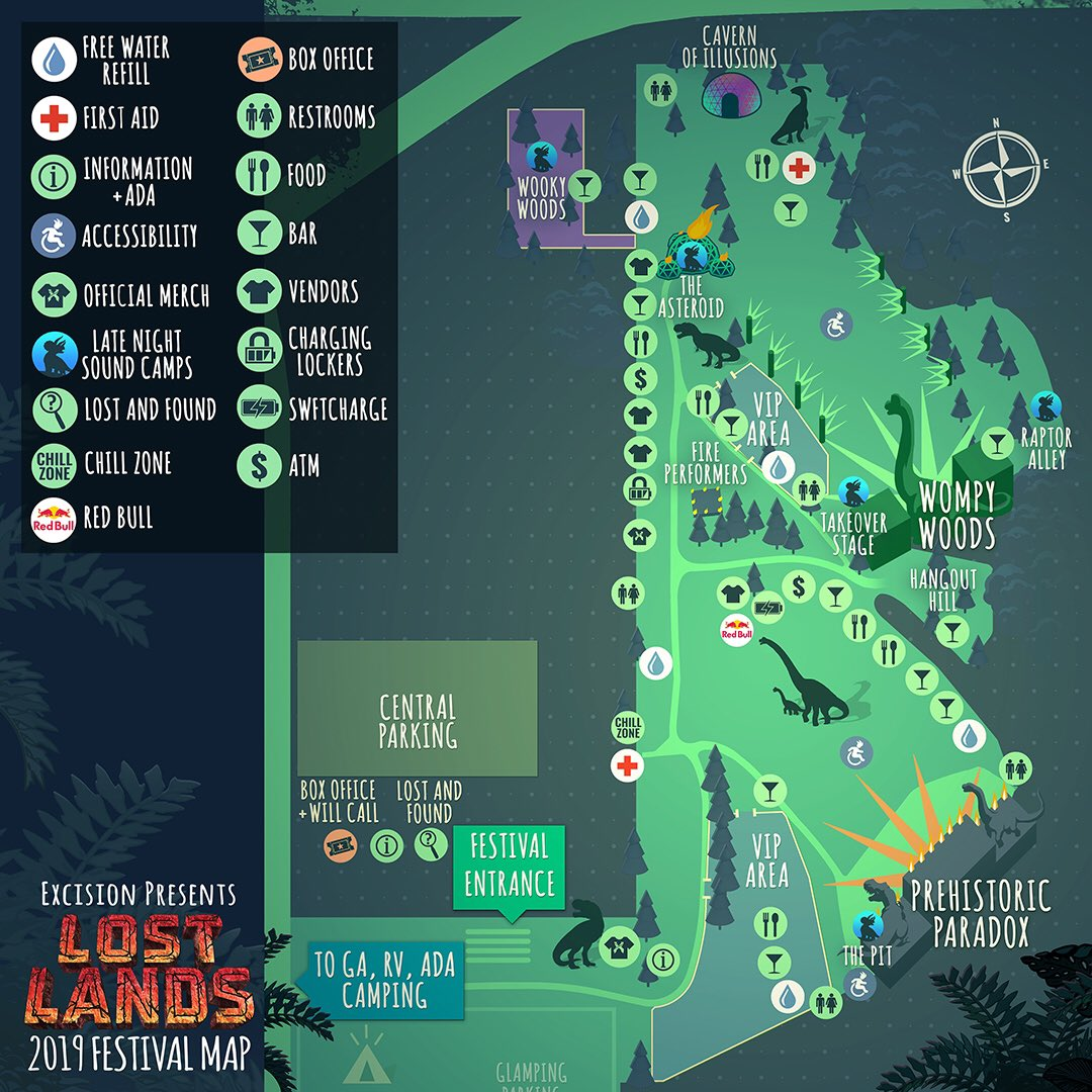 Lost Lands 2019 map