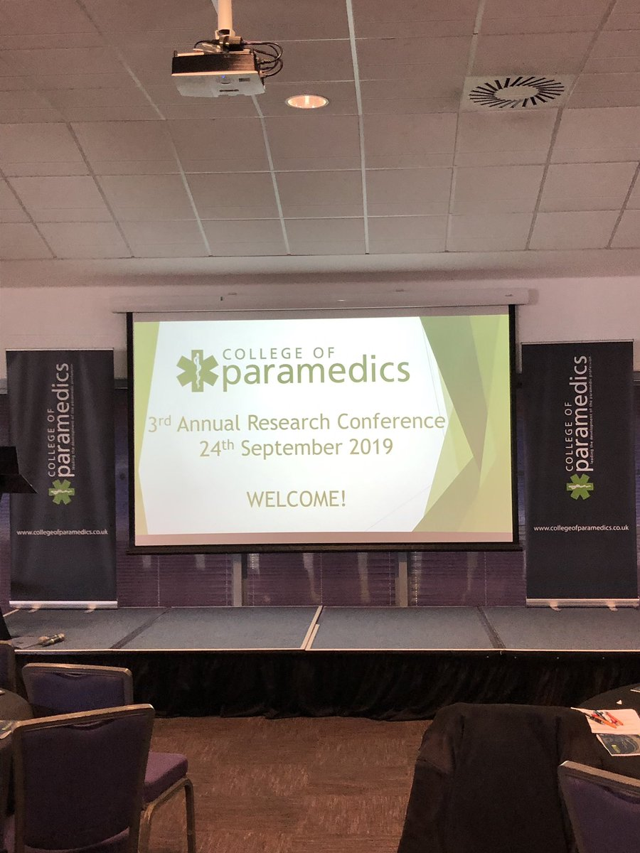 Interesting day at the @ParamedicsUK research conference in Cardiff. Some great presentations and posters. Informative and massively helpful workshop with @mcclg #COPresearch19 #paramedicpractice #research