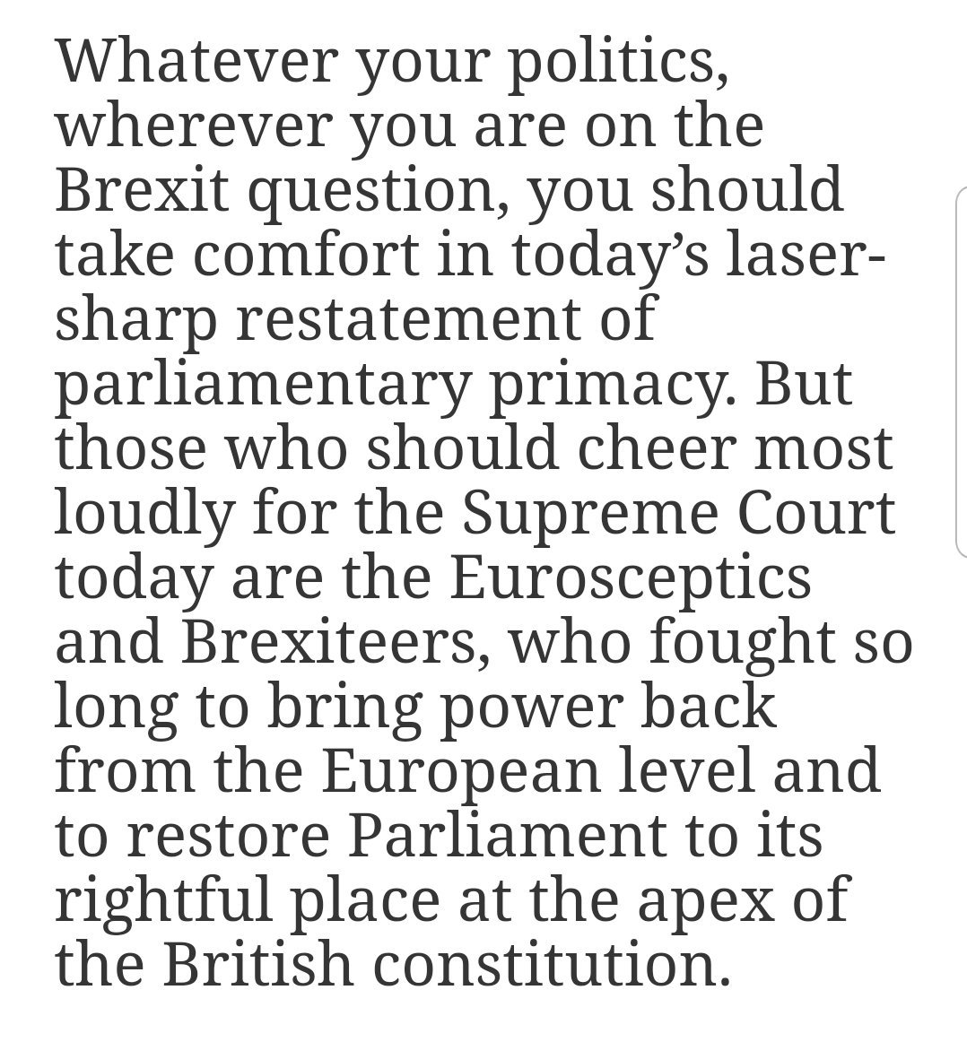 Those who should cheer most loudly for the Supreme Court today are the eurosceptics and Brexiteers. Hahahaha. Like thats going to happen. blogs.spectator.co.uk/2019/09/brexit…