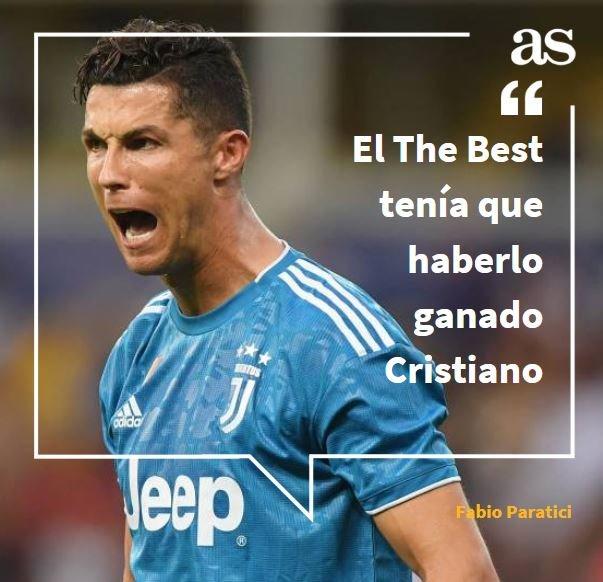 """🗣 """"Respetamos a Messi, pero Cristiano Ronaldo ganó la liga y la Supercopa italianas y la Nations League, lo merecía él""""🤔 ¿Estás de acuerdo?❤ Sí🔁 No"""