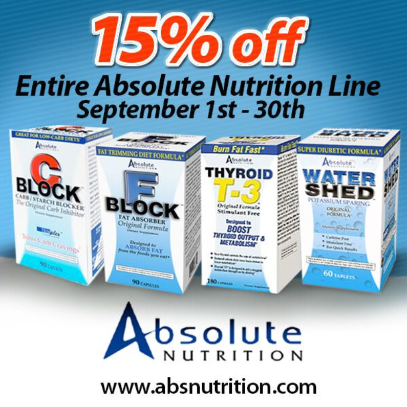 Allstarhealth On Twitter Our Entire Absolute Nutrition Line Is An Additional 15 Off Until The End Of September This Is A Highly Potent Line Of Supplement And Sports Nutrition Products Designed To