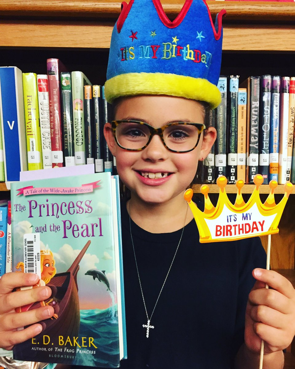 """Emry chose """"The Princess and he Pearl"""" by @edbakerbooks as her #BirthdayBookClub book and we're certain she will love it! Happy Birthday Emry! #roosread #whymme #whywisd"""