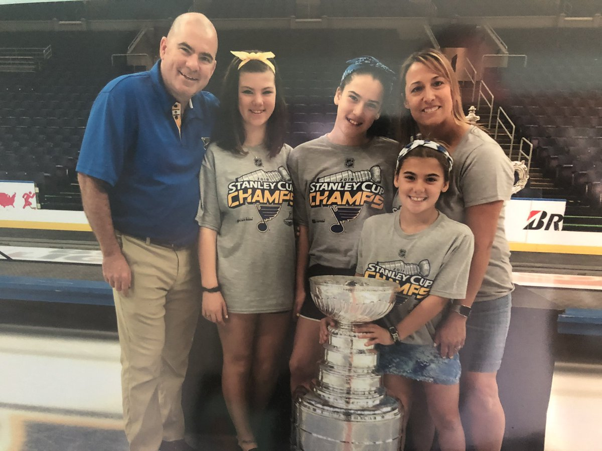 So we took this photo as a family. Sometime over the weekend, someone snuck into the house with the Simpson's like photo and put it on the wall. Freakin hilarious and we have bonuses who did it!! Enjoy @scullymike
