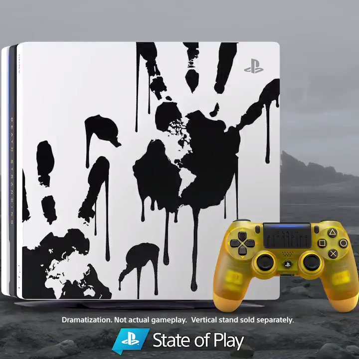 Get your 🖐 on the Limited Edition Death Stranding PS4 Pro Bundle, just unveiled during #StateOfPlay: play.st/2mYcsFM