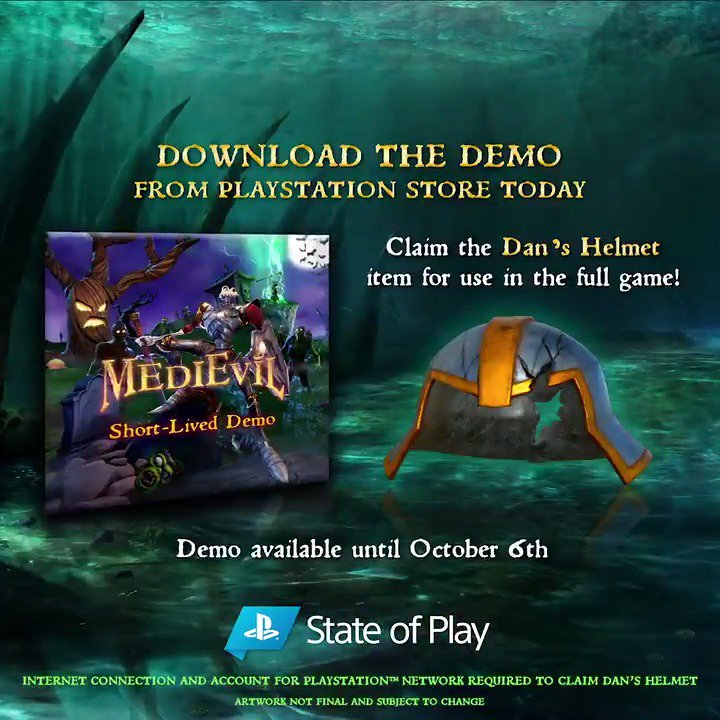 Tonights the knight - download the MediEvil Short-Lived demo on PS4 and get to know undead Sir Dan: play.st/2mX319r #StateOfPlay