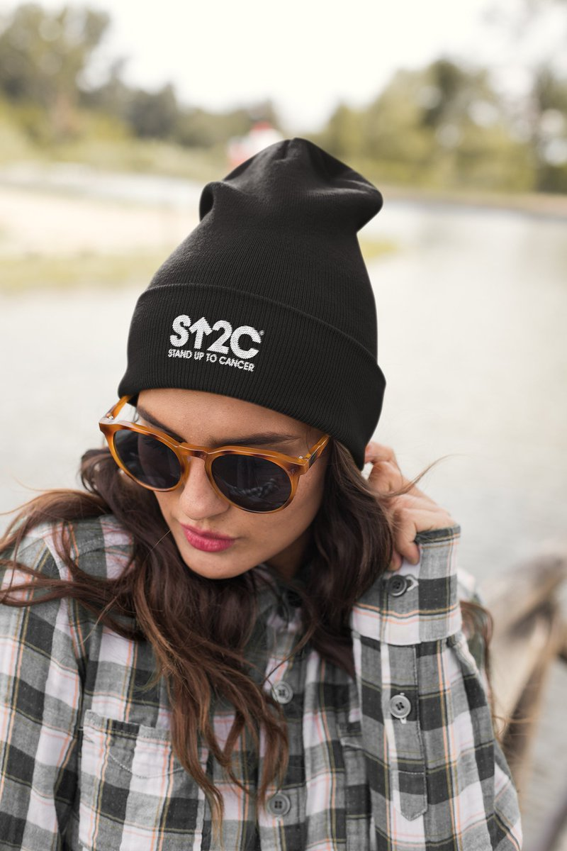 Stand Up this fall in our new #StandUpToCancer beanies! Shop now: bit.ly/2l9dYnT
