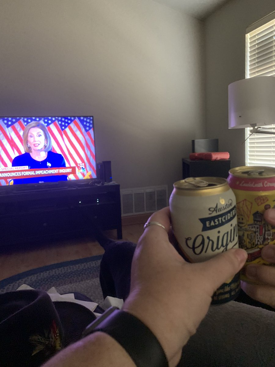 [alcohol] My brother and I, watching the news.