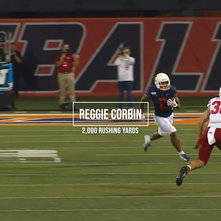 Just call him Reggie 2K. 🤩 Congrats to @JuicedUpReg on eclipsing 2,000 career rushing yards this past weekend! @IlliniFootball