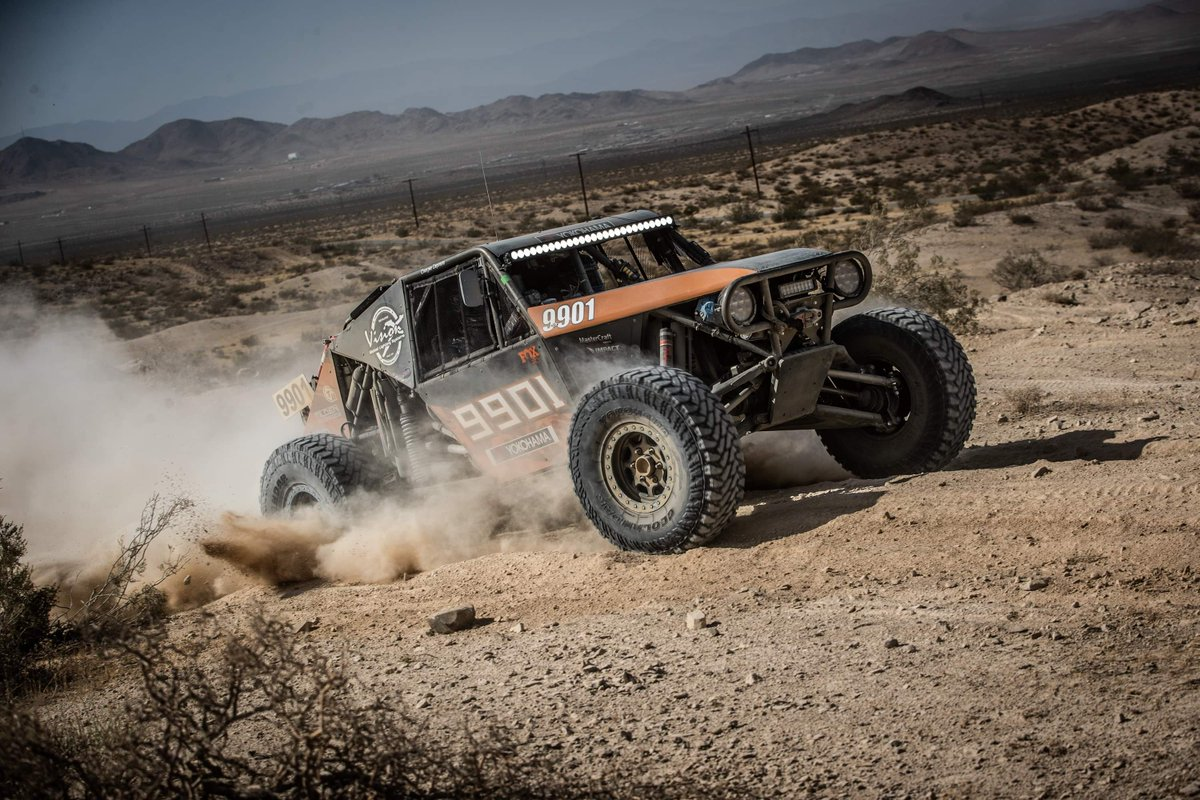 @CampbellRacing has pulled ahead by 2 points in the battle for @Thefabschool Manufacturers Cup following the @pciraceradios Rampage in Ridgecrest! Can @Jimmys4x4 regain their lead and win this years top honor?! #Ultra4 #TheFabSchool #ManufacturersCup Photo: @RedlineProjects