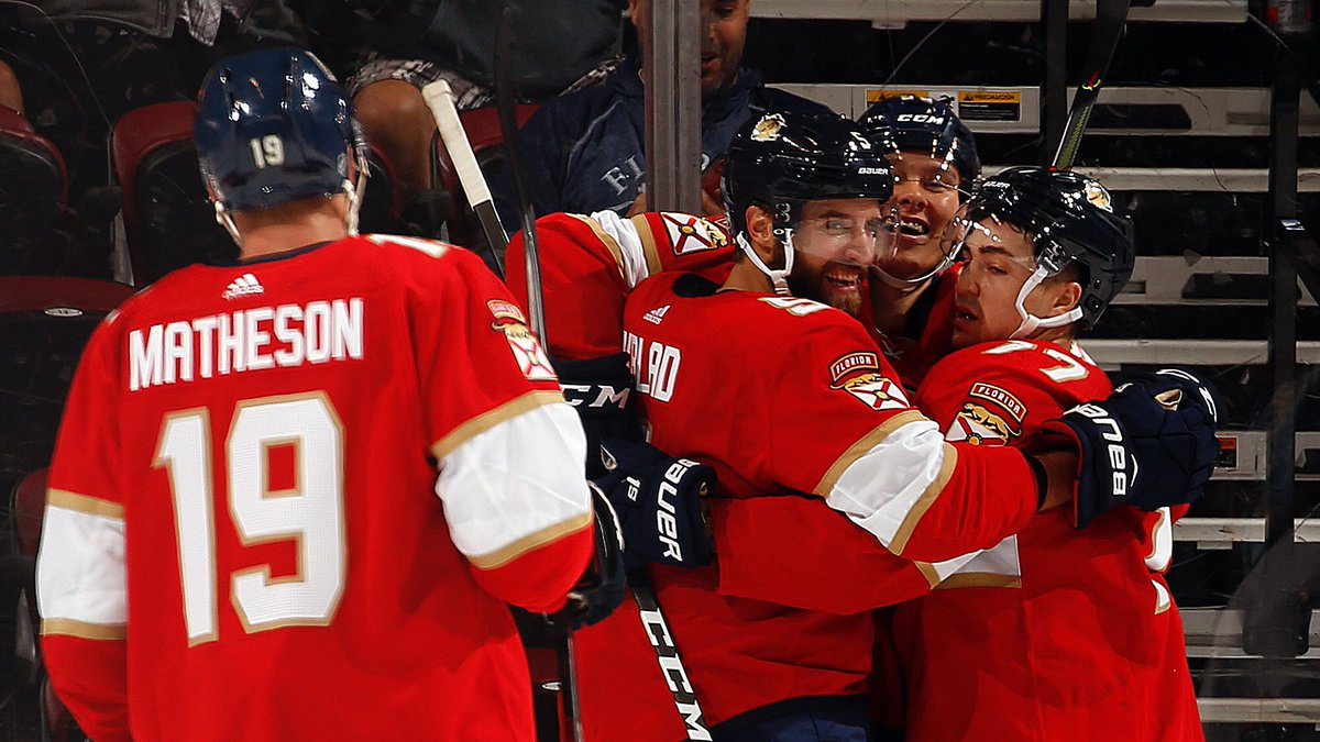 HOME SWEET HOME! #FlaPanthers win 6-3! 😺👏