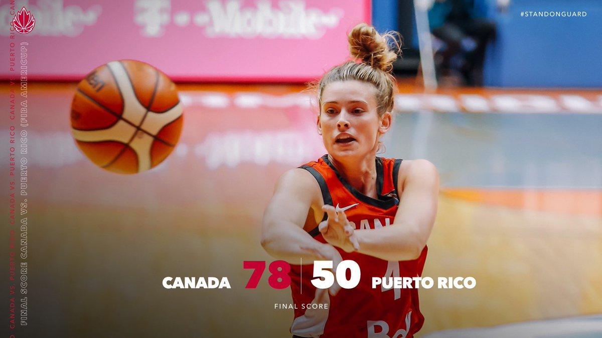 The Senior Women's National Team is on a roll 👊 #WeAreTeamCanada #CanadaBasketball #StandOnGuard