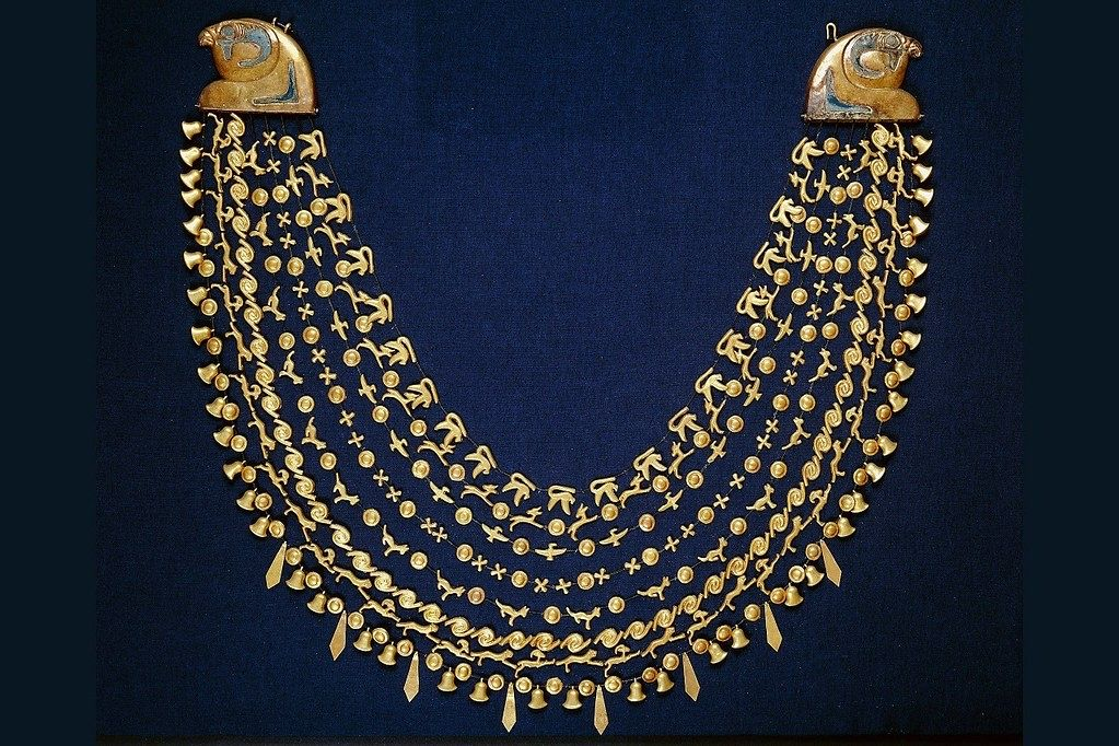 Collar necklace of Queen Ahhotep I, 1560 - 1530 BC. Late 17th dynasty. Egyptian museum, Cairo.
