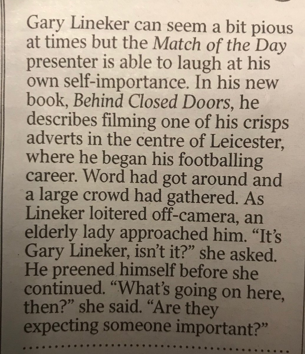 from the Times diary