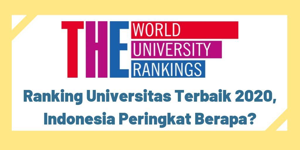 Ada 6 universitas di Indonesia masuk dalam peringkat universitas dunia 2020 versi THE. Universitas apa saja dan di mana posisi peringkat Indonesia? Selengkapnya di ▶️ http://bit.ly/2l3kGMc