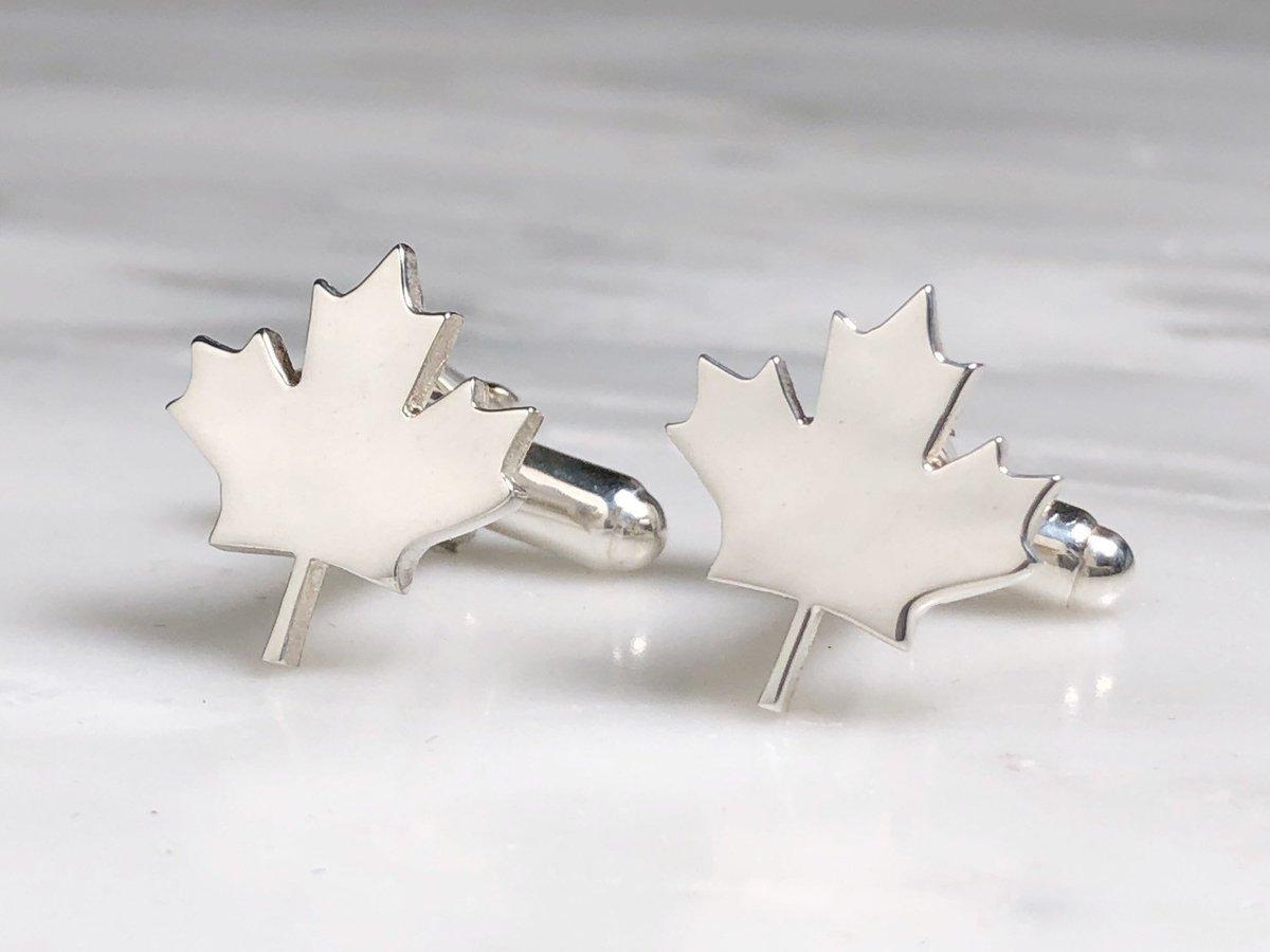 Leaf Cufflinks Cuff links for Canadians Sterling Silver Canada Maple Leaf Cufflinks Canada Day Gift Gifts for Canadians Canadian Grooms