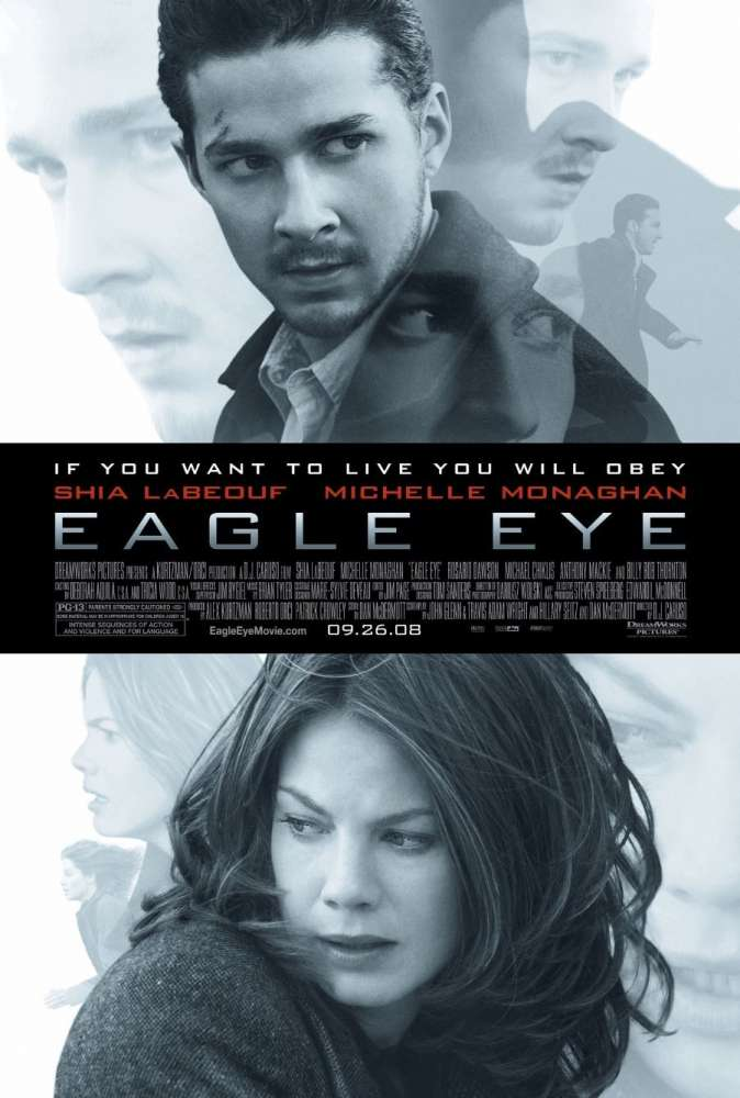 Eagle Eye was released on this day 11 years ago (2008). #ShiaLaBeouf #MichelleMonaghan - #DJCaruso