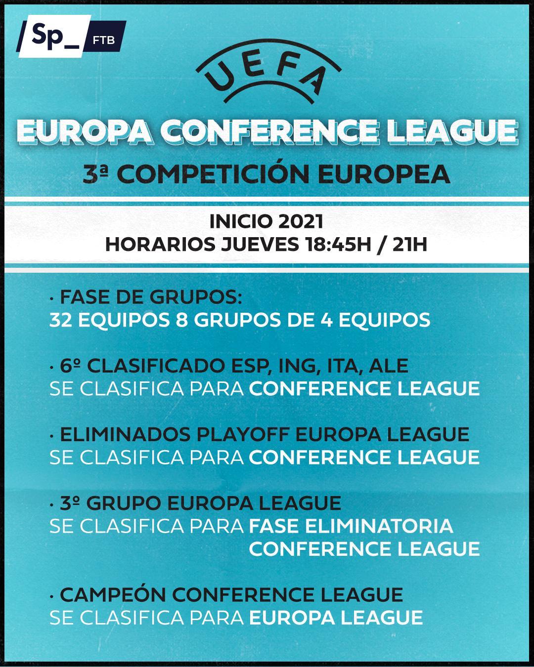 """Sphera Sports op Twitter: """"👀 En 2021, habrá una tercera competición de la  UEFA: Europa Conference League. ¿Qué os parece?… """""""
