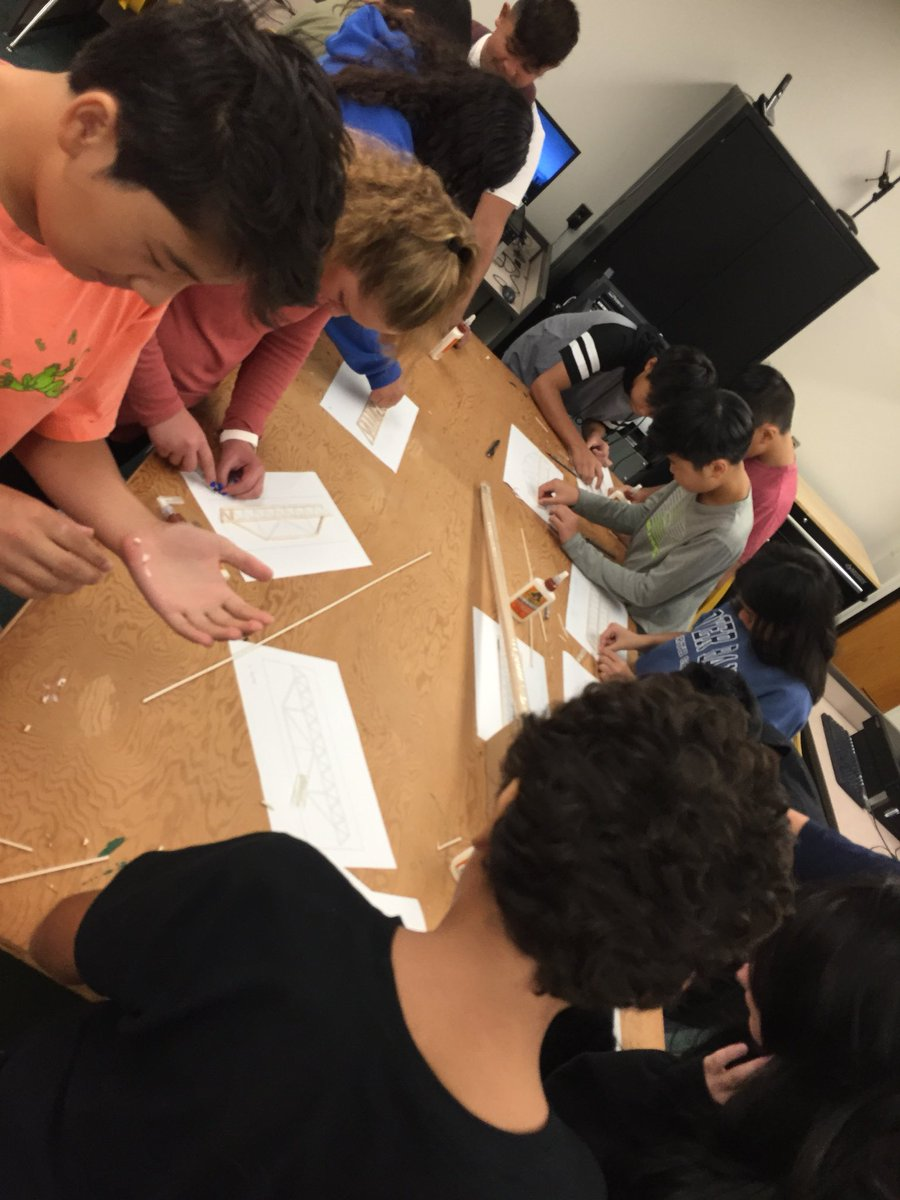 Students designed bridge structures in software and then drew models in CAD. Assembly time! <a target='_blank' href='https://t.co/TccT9720m1'>https://t.co/TccT9720m1</a>