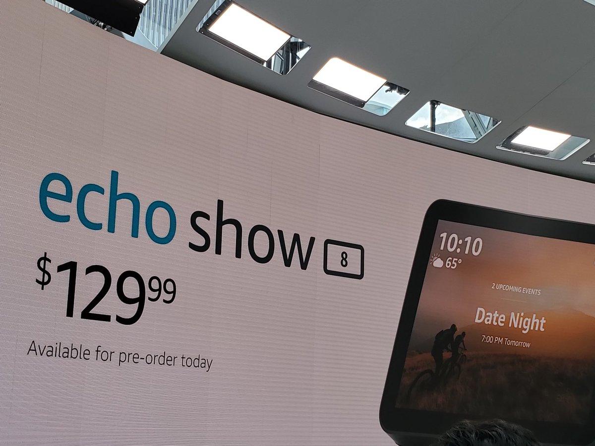 #amazon presenta su nuevo #echoshow8 #echoshow en su #AmazonEvent  en Seattle. Su precio es de $129 dólares