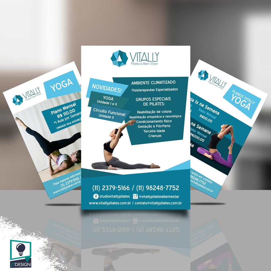 Flyers @vitallypilatesebemestar  Whatsapp 11 94519-5390  http://www.j7design.com.br  #j7design #flyers #corpo #yogainspiration #designgrafico #identidadevisual #pilatesavançado #saude #pilatesreformer #pilateslovers #logo #art #logos #pilates #graphicdesign #yogapic.twitter.com/EKFIh262AR