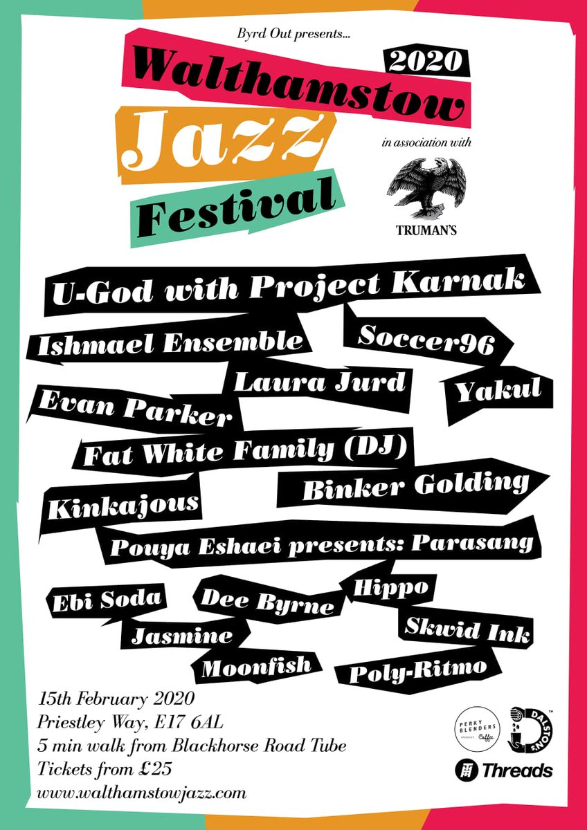 shout to @ByrdOut and this event next year... nice one! dice fm for tickets and that...https://walthamstowjazz.com/