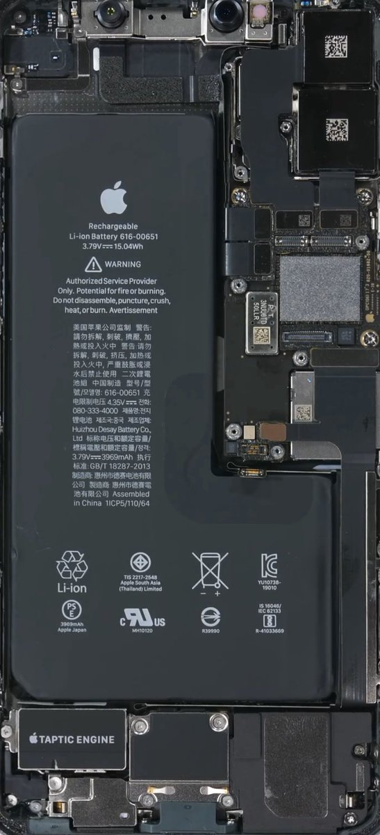 Jerryrigeverything On Twitter Iphone 11 Pro Max Teardown That Motherboard Is Tiny Https T Co Qpt5wlblmd